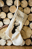 Personalized Rustic Chic Deer Family Stocking