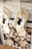 Personalized Rustic Chic Buck and Doe Stockings - Set of 2