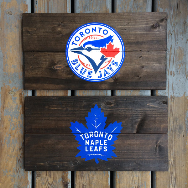 Sports Logo Painted Sign | Upload Your Favourite Sports Team Logo! - Designed With Love