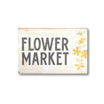 Flower Market with Flowers | Vintage Distressed Wood Sign