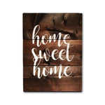 Home Sweet Home Wood Sign | First Home Sign | Home Wood Sign | Home Interiors - Designed With Love
