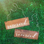 Wood Reserved Chair Signs | Ceremony Signs | Reception Wood Wedding Sign