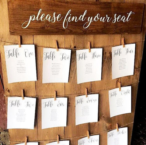Please Find Your Seat Wood Wedding Sign | Jute String Seating Chart | Rustic  Wedding Decor - Designed With Love