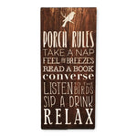 Porch Rules Sign | Wood Sign | Exterior Porch Sign | Outdoor Decor - Designed With Love