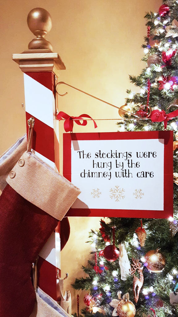 Christmas Stocking Holder | Stockings | Wood North Pole Sign