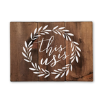 This Is Us Wood Sign with Wreath | Rustic Sign | Home Wood Sign | Home Interiors