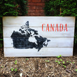 Vintage Map of Canada on Wood | Canada Wood Sign | Wood Map Sign | O'Canada