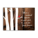 When A Cardinal Appear In Your Yard It's A Visitor From Heaven | Home Wood Sign | Home Interiors - Designed With Love