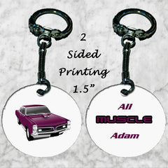 Personalized Key Chain Ring All Muscle Car Enthusiast Christmas Present Gift