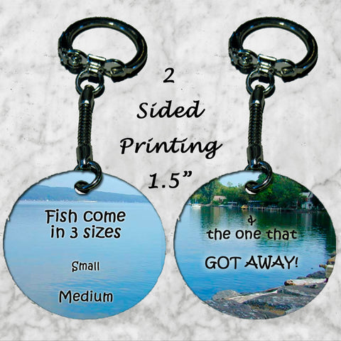 Personalized Key Chain Fisherman's Gift Idea Fishing One that got away Fish