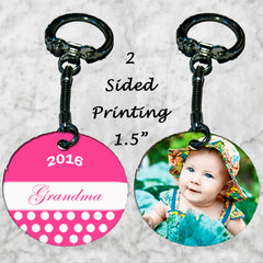 Personalized Key Chain Ring Grandma Grandmother Nana Your Kid's Photo Picture