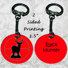 Personalized Key Chain Deer Rack Hunter Hunting Gift