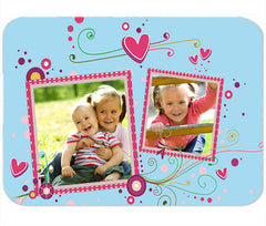 Personalized Mouse Pad 2 Photos Pictures Kids Babies Mom Aunt Grandma Gift Mousepad