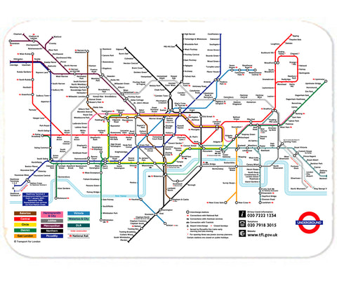 Personalized Mouse Pad London Underground Tube Map Mind the Gap Mousepad