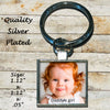Image of Personalized Silver Plated Key Chain Mommy's Daddy's  Cutest Child's Photo Picture Day