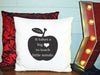 Image of Personalized Custom Cushion Cover Throw Pillow Teacher Room Best Teacher Gift ANY NAME Your Child's Name