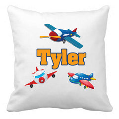 Personalized Custom Cushion Cover Throw Pillow Planes Room Little Boy ANY NAME Your Child's Name