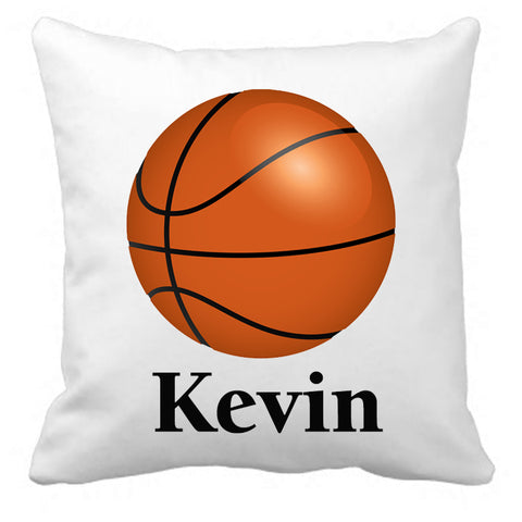 Personalized Custom Cushion Cover Throw Pillow Basketball Room Little Boy or Girl ANY NAME Your Child's Name