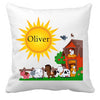 Image of Personalized Custom Cushion Cover Throw Pillow Farm Room Little Boy or Girl ANY NAME Your Child's Name