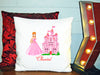 Image of Personalized Custom Cushion Cover Throw Pillow Princess Castle Room Little Girl ANY NAME Your Child's Name