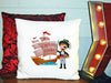 Image of Personalized Custom Cushion Cover Throw Pillow Pirate Themed Room Little Boy ANY NAME Your Child's Name