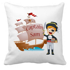 Personalized Custom Cushion Cover Throw Pillow Pirate Themed Room Little Boy ANY NAME Your Child's Name