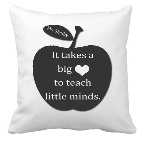 Personalized Custom Cushion Cover Throw Pillow Teacher Room Best Teacher Gift ANY NAME Your Child's Name