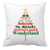 Image of Personalized Custom Cushion Cover Throw Pillow Christmas Tree Words with Any Family Name You Choose
