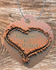Image of Personalized Heart Pendant Necklace Free Ball Chain Names Written In The Sand