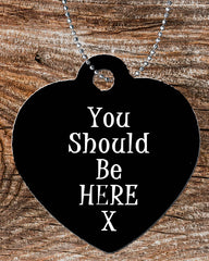 Personalized Heart Pendant Necklace Free Ball Chain You Should Be Here