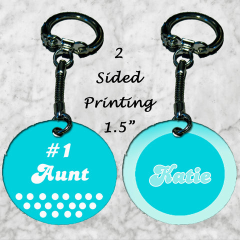 Personalized Key Chain Ring #1 Best Aunt Any Name