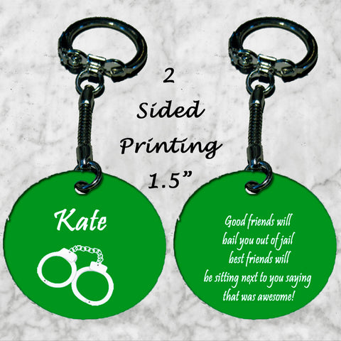 Personalized Key Chain Ring Best Friends Christmas Birthday Present Gift Idea