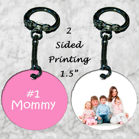 Personalized Key Chain Ring #1 Mommy Mom Mother's Day Gift Christmas Photo Kid's