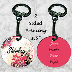Personalized Key Chain Sisters by Choice Friends by Fate