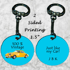 Personalized Key Chain 100% Vintage Just Like My Car Enthusiast