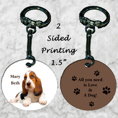 Personalized Key Chain All you need is love and a dog Beagle