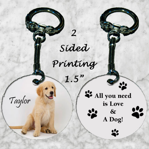 Personalized Key Chain All you need is love and a dog Labrador