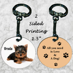 Personalized Key Chain All you need is love and a dog Morkie