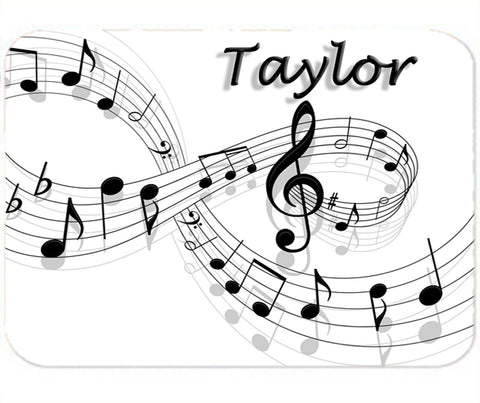 Personalized Mouse Pad Music Notes Teacher Student Gift Piano Treble Clef Mousepad