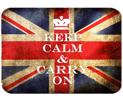 Personalized Mouse Pad Keep Calm and Carry On British Flag Mousepad