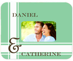Personalized Mouse Pad Couples Wedding Engagement Anniversary Gift Idea Mousepad Green