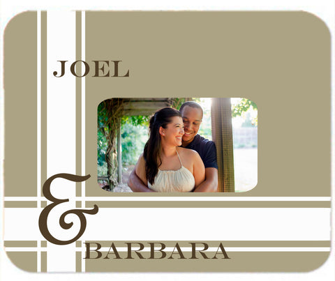Personalized Mouse Pad Couples Wedding Engagement Anniversary Gift Idea Mousepad Beige