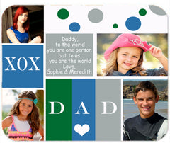 Personalized Mouse Pad Dad Father's Day Gift Present Idea Best Daddy Family Photos Pictures