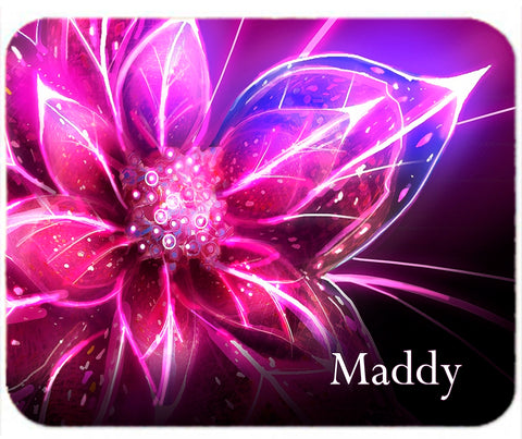 Personalized Mouse Pad Flower Lily Vibrant Pinkl Any name Mousepad