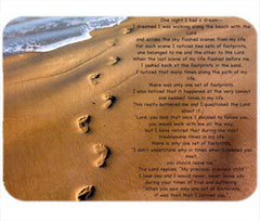 Personalized Mouse Pad Footprints Prayer Faith in the Lord God Religious Gift Any name Mousepad