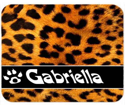 Personalized Mouse Pad Leopard Cheetah Print Gift Any name Mousepad