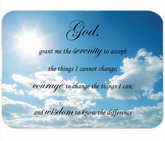 Personalized Mouse Pad Serenity Prayer Faith In God Lord Strength Wisdom Religious Gift Mousepad
