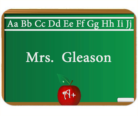 Personalized Mouse Pad Teaching Teacher Gift Idea Chalk Board Design Mousepad
