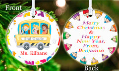 Personalized Christmas Ornament School Bus Driver Gift #1 ideal keepsake Gift