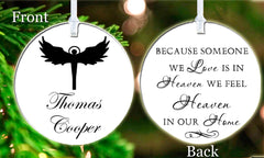 Personalized Christmas Someone we Love is in Heaven Gift Idea Present Religious Believe Lord God Keepsake